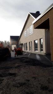 Liuhtarin koulun rakennustyömaalta syksyllä 2020